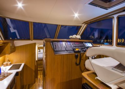 Interiors onboard Mainship 37 in Miami, FL.