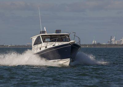 Mainship 37 running in Miami, FL.