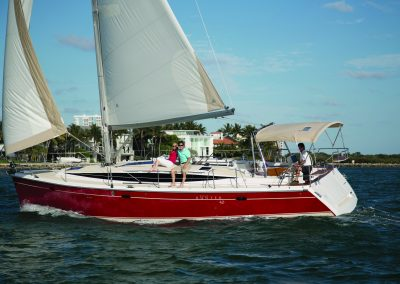 "Hunter 40 ""Reboot"" sailing in Miami, FL."
