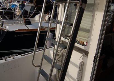 Stern Ladder to Topdeck