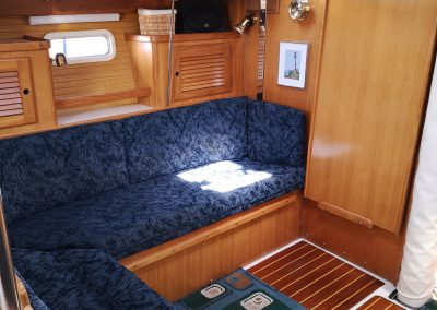 Port Seating Table Stowed